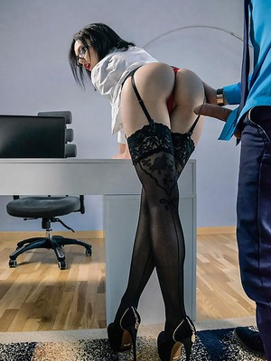 Nikolas could barely keep a professional attitude when his secretary Sheri delivered her report to his desk in a black pencil skirt that showed the fu